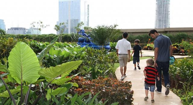 rooftop garden at hotel Raffles jakarta