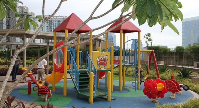 playground for kids at hotel Raffles jakarta