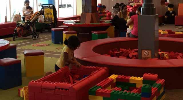 Lego play area at Hotel Legoland Malaysia