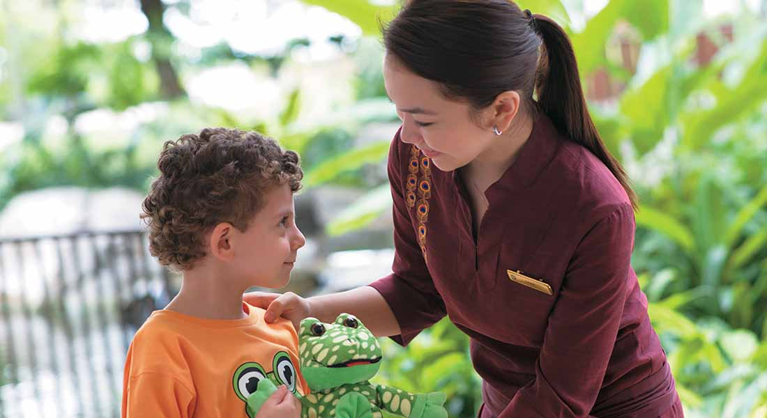 kid friendly staff at Hotel Shangri La Rasa Sentosa, Singapore