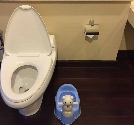 kid-friendly bathrooms at Hotel Four Seasons Chiang Mai Thailand