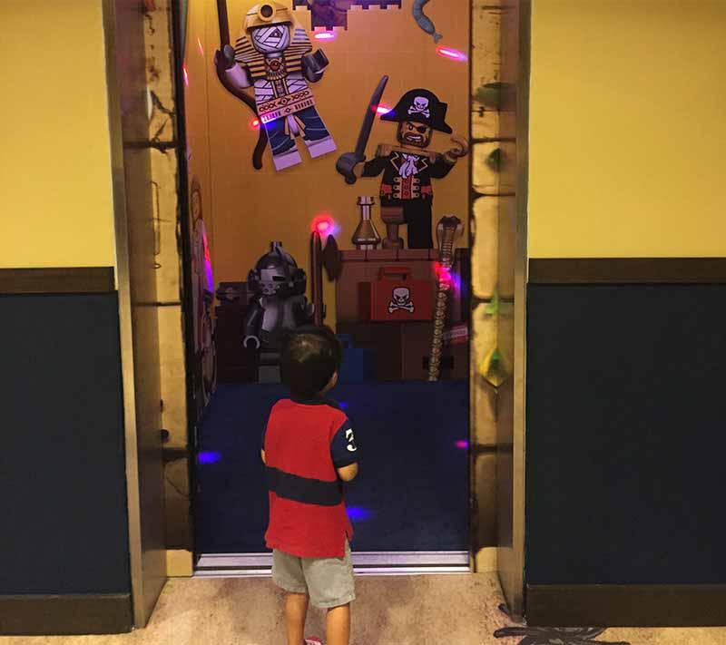 Elevators for kids at Legoland Malaysia