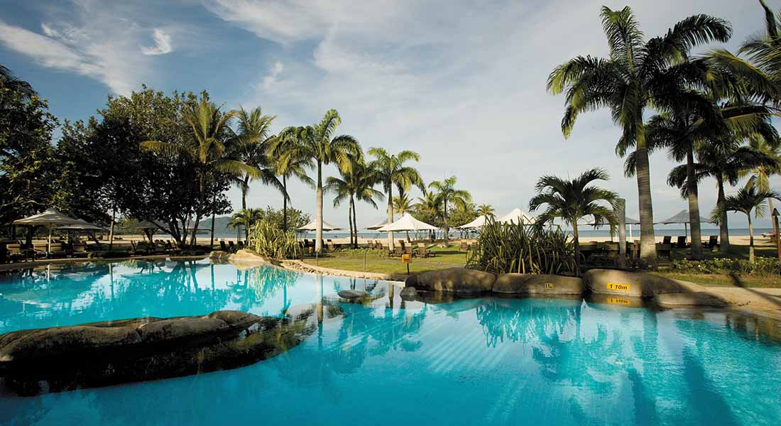kid friendly pools at hotel shangri-la Rasa Ria kota kinabalu