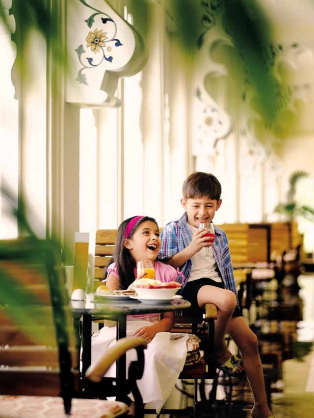 Kids having breakfast-Trident, Udaipur