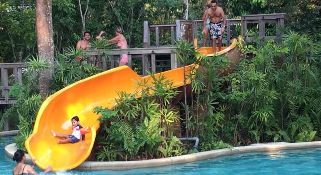 Fun slide for kids at hotel The Andaman, Langkawi