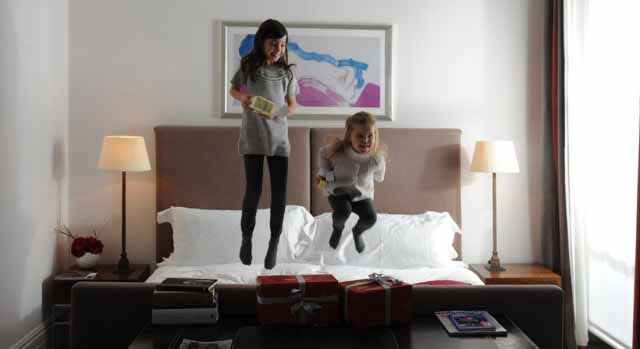 kids having fun at child friendly hotel browns london