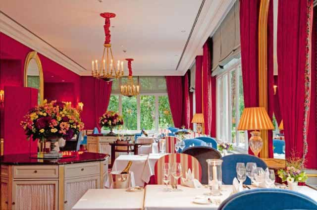 Michelin-starred restaurant at kid friendly hotel Brenners Park Baden-Baden Germany