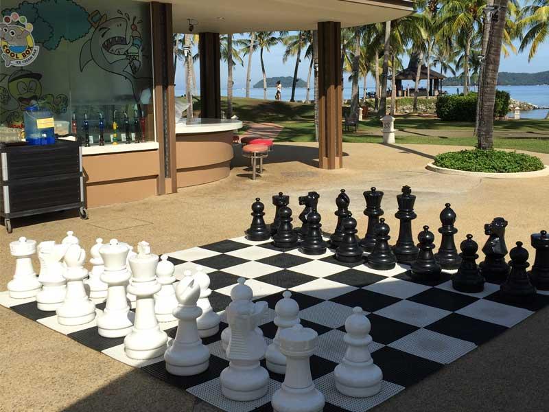 giant chess at at hotel shangri-la tanjung aru kota kinabalu