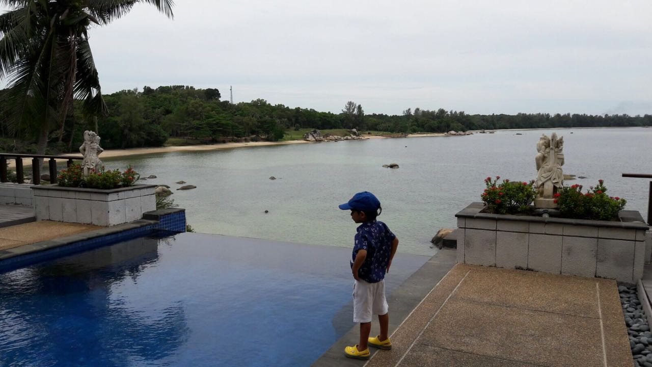 Pool at Villa at luxury family-friendly hotel Banyan Tree Bintan