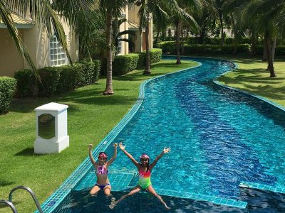 Pool at luxury family-friendly resort Sofitel in Krabi