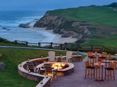 Fire Pits at family-friendly hotel Ritz Carlton Half Moon Bay California