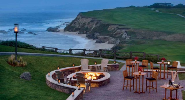 Fire Pits at family-friendly hotel Ritz Carlton Half Moon Bay California